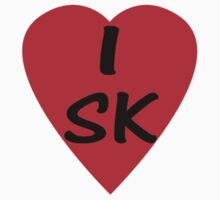 I Love Slovakia or Saskatchewan - Country Code SK T-Shirt & Sticker Kids Clothes