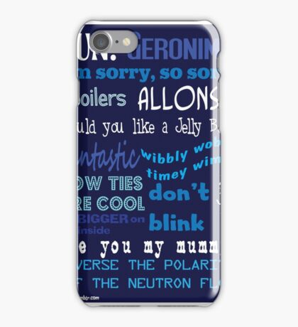Doctor Who Words And Quotes iPhone Case/Skin