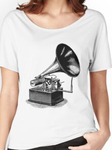 Vintage Phonograph - Later Model Women's Relaxed Fit T-Shirt