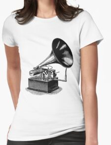 Vintage Phonograph - Later Model Womens Fitted T-Shirt