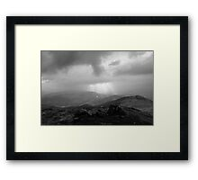 View from the summit of Ben Vrackie Cairngorms Scotland UK Framed Print