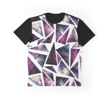 Watercolor Starry Space In Triangles Graphic T-Shirt