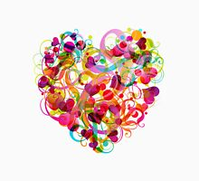 Abastract Colorful Heart Unisex T-Shirt