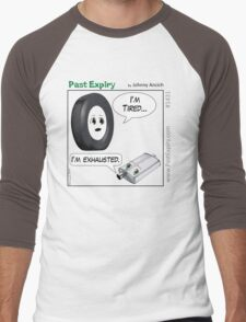 Cartoon : Tired and Exhausted Men's Baseball ¾ T-Shirt