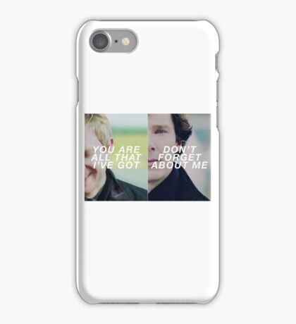 Don't forget about me iPhone Case/Skin