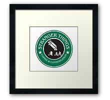 Stranger Things: Mornings are for Coffee and Contemplation (version three) Framed Print