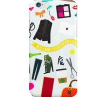 live is messy iPhone Case/Skin