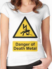 Danger of Death Metal Women's Fitted Scoop T-Shirt