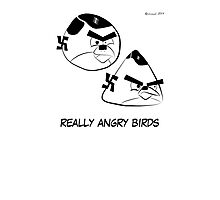 Really Angry Birds Photographic Print