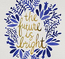 The Future is Bright – Navy & Gold by Cat Coquillette