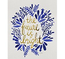 The Future is Bright – Navy & Gold Photographic Print