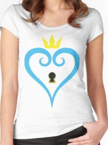 Kingdom Hearts-Heart Keyhole Without wings -fan art- Women's Fitted Scoop T-Shirt