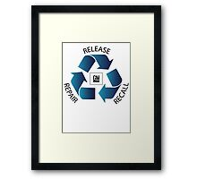 GM Recall and Repair Logo Parody Framed Print