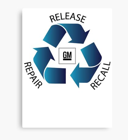 GM Recall and Repair Logo Parody Canvas Print
