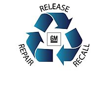GM Recall and Repair Logo Parody Photographic Print