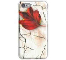 Lonely Leaf in red iPhone Case/Skin