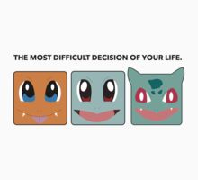 Gen 1 Starters Hard Decisions by luffnstuff
