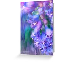 Delphinium Abstract Greeting Card