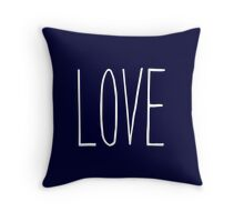 LOVE On Navy Blue Throw Pillow