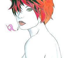 Smoking Girl by crystalspike