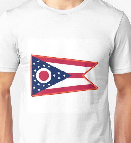 Neon Ohio Flag Unisex T-Shirt