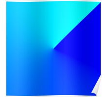 Fade Swirl Ocean // Sky Poster
