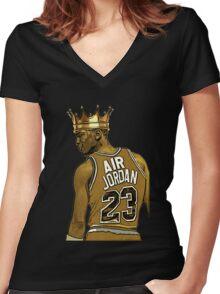 "Michael ""Air"" Jordan - King Women's Fitted V-Neck T-Shirt"