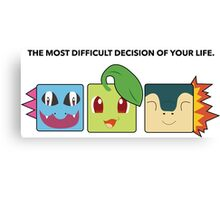Generation 2 Starters Hard Decisions Canvas Print