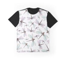Watercolor Romantic Dragonflies Graphic T-Shirt
