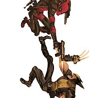 Deadpool vs Wolverine by MissyLysi