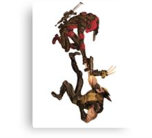 Deadpool vs Wolverine Canvas Print