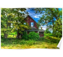Abandoned Home in Lubec, Maine Poster