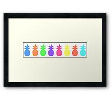 Rainbow pineapples Framed Print