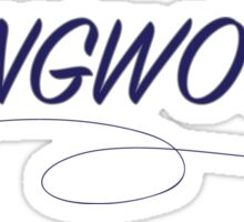 Longwood Script Sticker