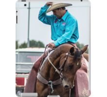 The gentle cowboy and his horse iPad Case/Skin