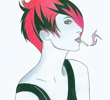 Smoking Girl II by crystalspike