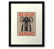 Black Magic Tan Framed Print