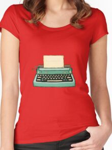 Typewriter vintage mint Women's Fitted Scoop T-Shirt