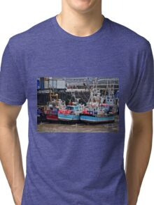 The Tide Is Out In Bridlington Harbour England Tri-blend T-Shirt