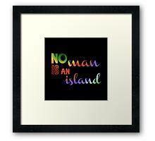 No Man Is An Island Literature Framed Print
