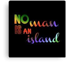No Man Is An Island Literature Canvas Print