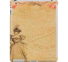 Rustic,old fashioned,victorian,collage,grunge,worn,old,parchment,floral,roses,elegant lady iPad Case/Skin
