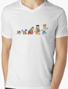 Hanna Barbera Evolution Mens V-Neck T-Shirt