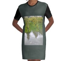 Vineyard reflection Graphic T-Shirt Dress