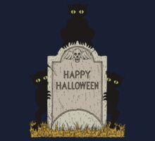 Three Imps Happy Halloween One Piece - Long Sleeve