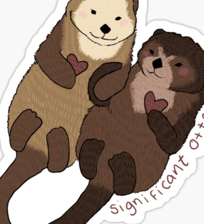 Significant Otters Sticker