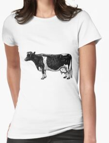 Vintage Cattle Side View (no grass) woodcut style T-Shirt