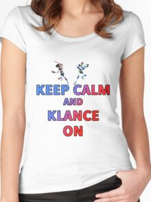 Keep Calm And Klance On  Women's Fitted Scoop T-Shirt