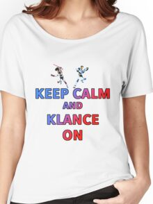 Keep Calm And Klance On  Women's Relaxed Fit T-Shirt