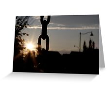 Sunsets and Swings Greeting Card